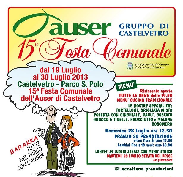 L'Auser di Castelvetro (MO) in festa!