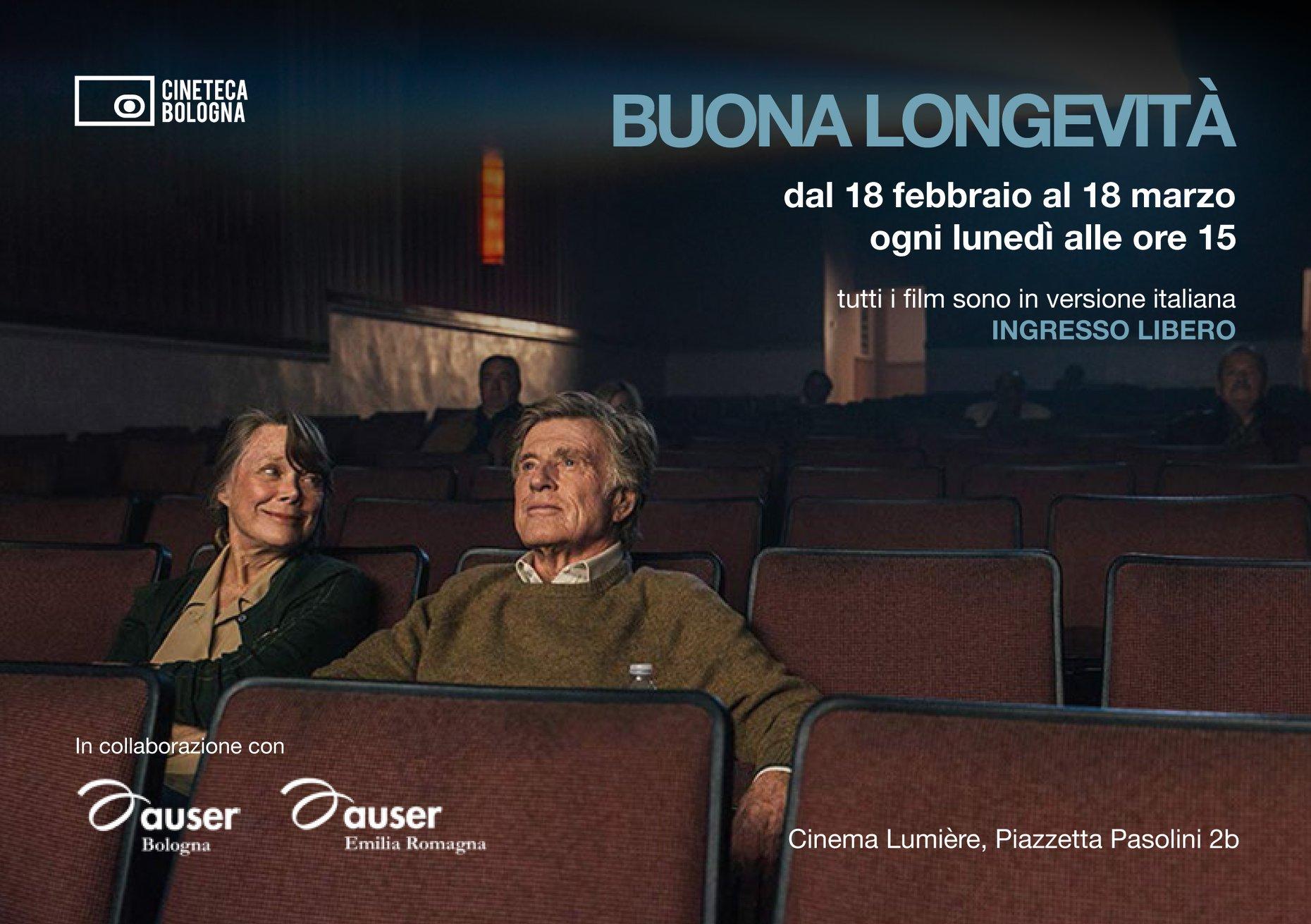 Buona longevità: la rassegna cinematografica di Auser Bologna e Auser Emilia Romagna per una vecchiaia fuori dagli schemi