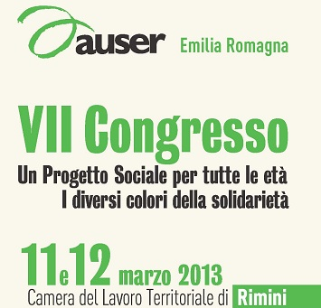 Settimo Congresso Auser Emilia Romagna: on line il video e la documentazione