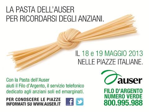La Pasta dell'Auser: in tutte le piazze spaghetti antimafia per sostenere il Filo d'Argento