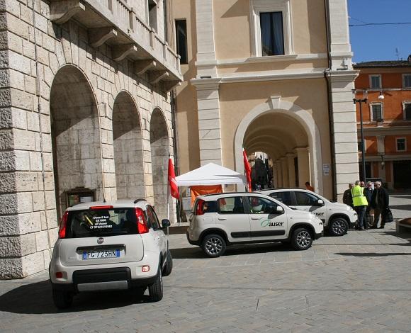Consegnati a Rieti i tre automezzi donati dalle Auser dell'Emilia Romagna ai territori colpiti dal sisma