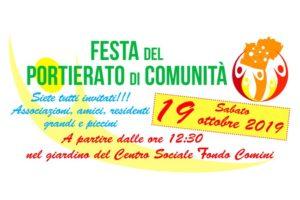 Sabato 19 ottobre la festa del Portierato di Comunità