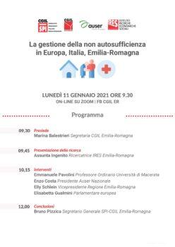 La gestione della non autosufficienza in Europa, Italia, Emilia Romagna: la registrazione dell'incontro
