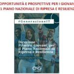 """Mercoledì 12 maggio 2021 ore 17.30: """"Opportunità e prospettive per i giovani nel Piano nazionale di ripresa e resilienza"""""""
